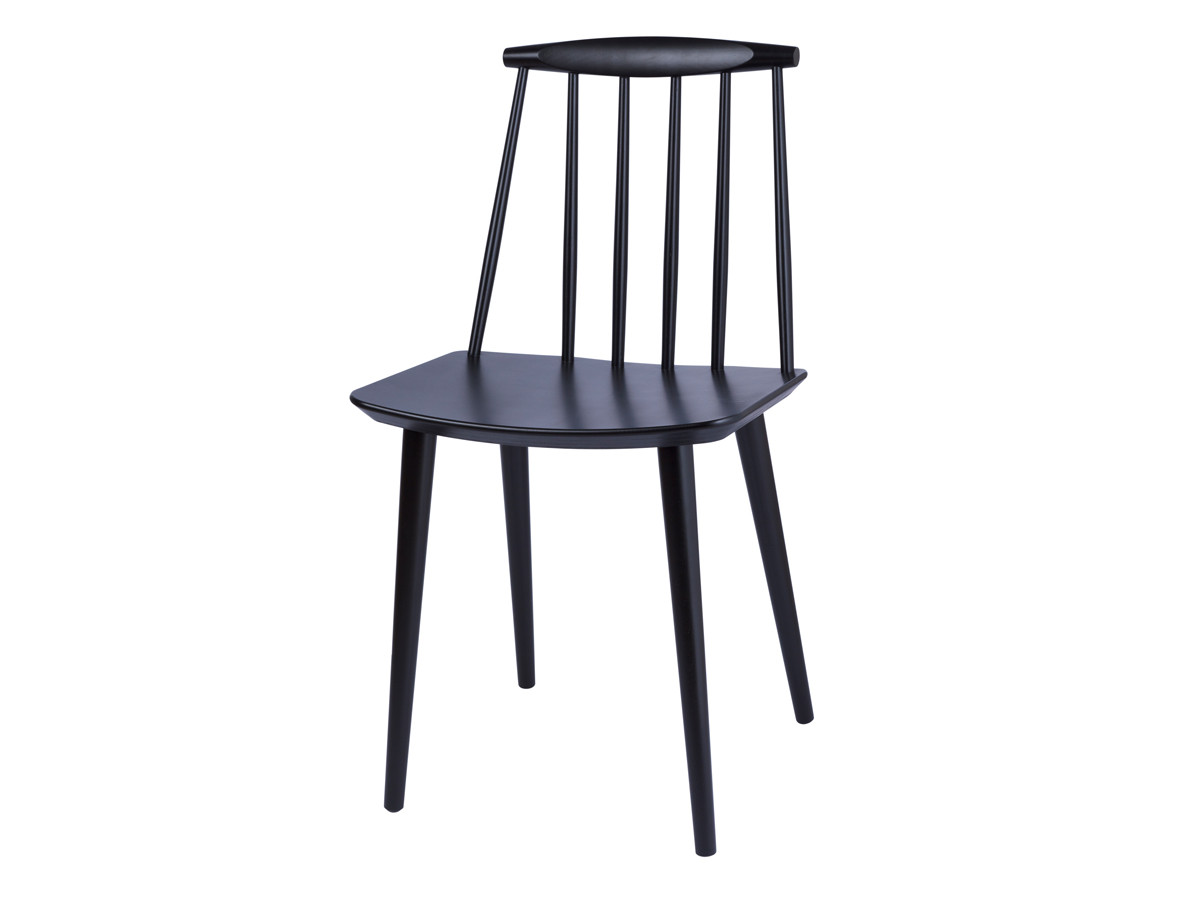 Buy the hay j77 chair at for Chaise noir en bois