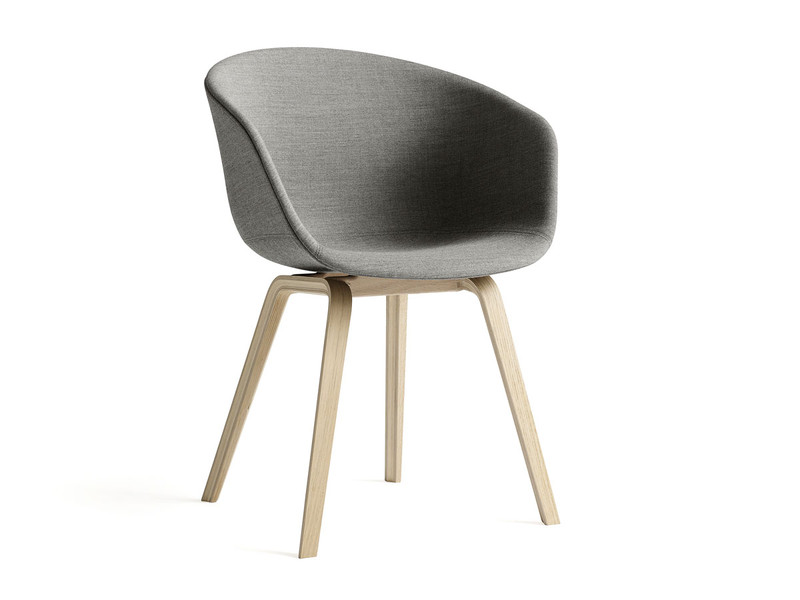 Hay About A Chair AAC23 - Upholstered Armchair with Wooden Base