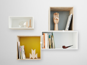 View Muuto Mini Stacked Shelving System