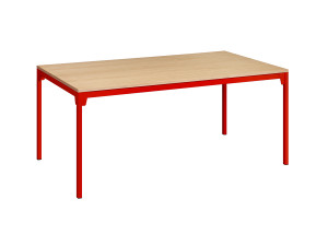 View E15 FK07 Frankfurt Table Oak and Red
