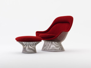 View Knoll Platner Easy Chair And Ottoman