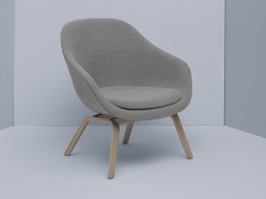 View Hay About a Lounge Chair Low AAL83 - Veneered Oak Base