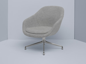 View Hay About a Lounge Chair Low AAL81 - Coated Aluminium Swivel Base