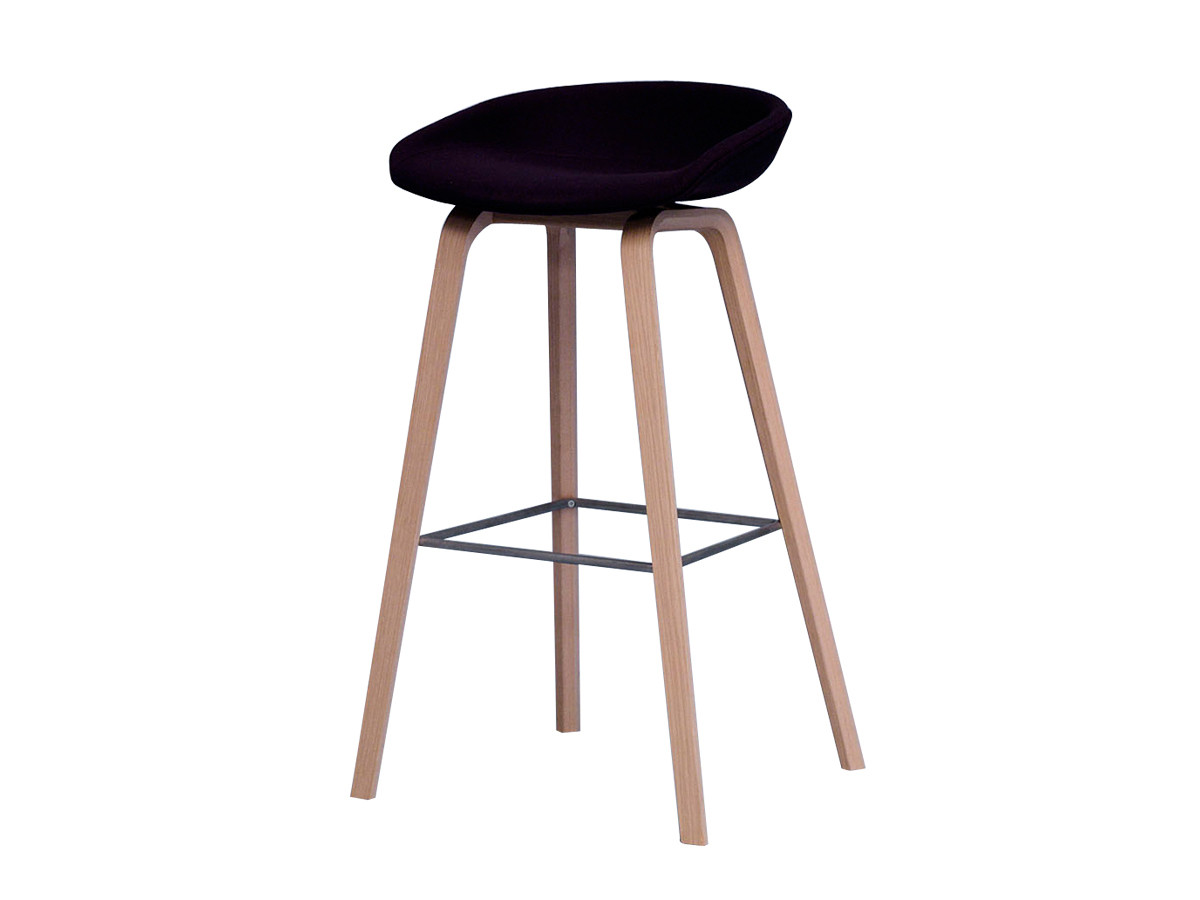 Buy The Hay About A Stool Aas33 Wooden Base Upholstered