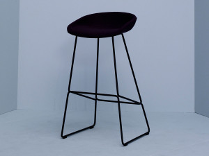 Hay About a Stool AAS39 - Sled base Upholstered
