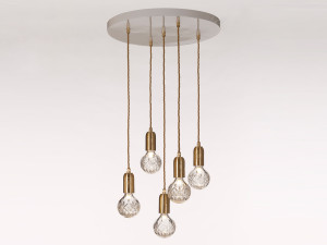 View Lee Broom Crystal Bulb Chandelier