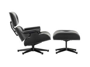 View Vitra Eames Lounge Chair & Ottoman - All Black
