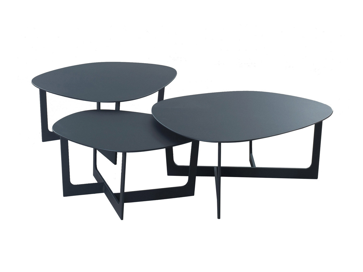 Buy the erik jorgensen ej 190 191 insula coffee tables at for Modern nesting coffee tables