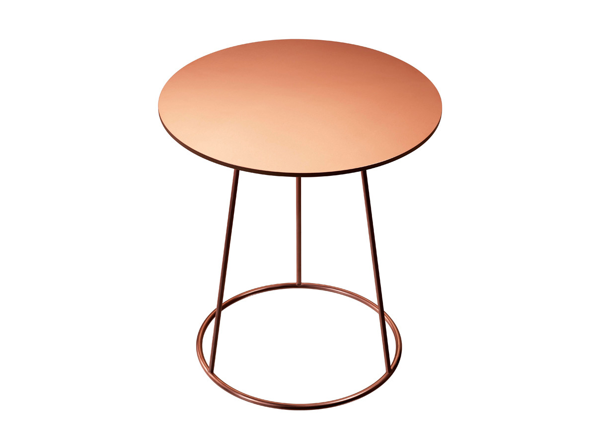 Buy the Swedese Breeze Side Table Copper at Nest co uk