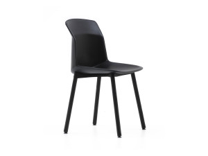 View Cassina 384 Motek Chair with Leather Shell