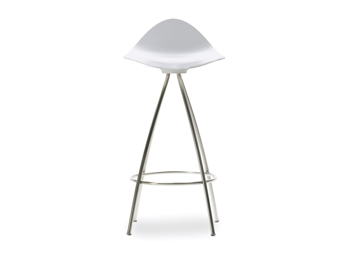 Buy The STUA Onda Monochrome White Bar Stool At Nestcouk