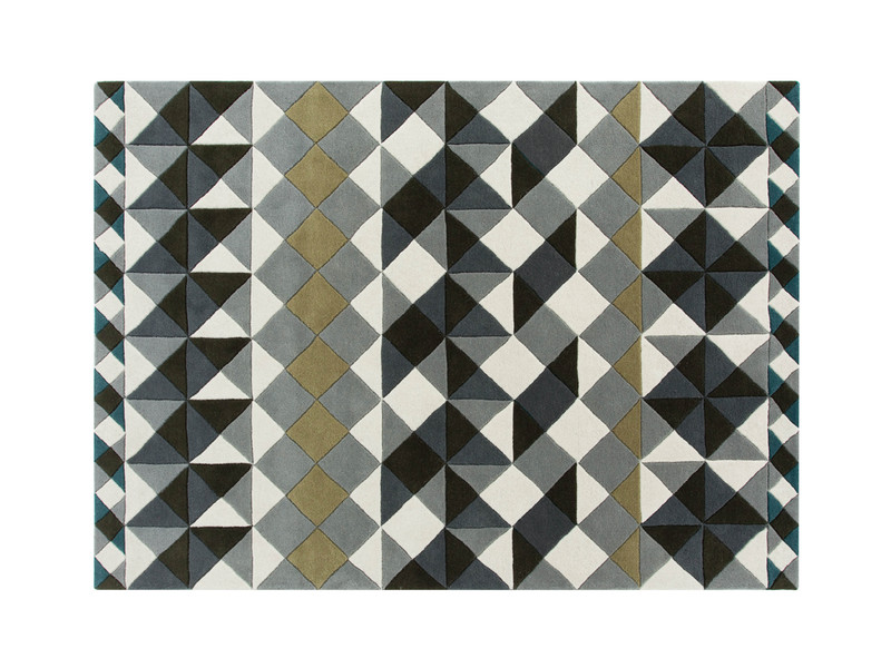 GAN Hand Tufted Mosaiek Rug Grey