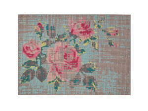 View GAN Canevas Flower Rug Colour