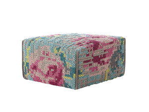 View GAN Canevas Square Flowers Pouffe