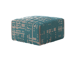 View GAN Canevas Square Abstract Pouffe