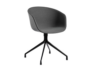 Hay About A Chair AAC21 - Upholstered Armchair with Swivel Base