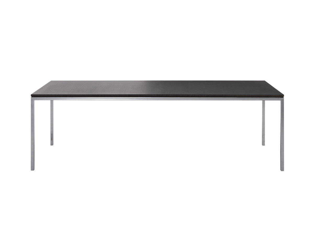 buy the knoll studio knoll florence knoll dining table grey stained oak at. Black Bedroom Furniture Sets. Home Design Ideas