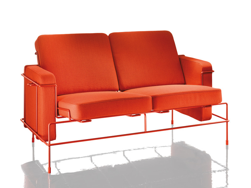 Magis Traffic Two Seater Sofa Orange
