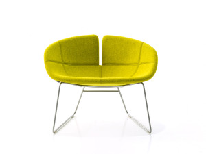 View Moroso Fjord Armchair with Sled Base
