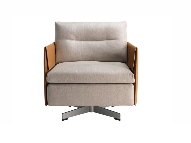 Buy the poltrona frau grantorino swivel armchair at nest