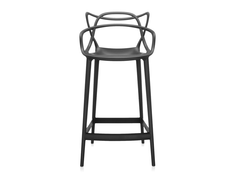 buy the kartell masters bar stool black at nest co uk