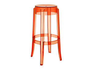 View Kartell Charles Ghost Bar Stool Orange