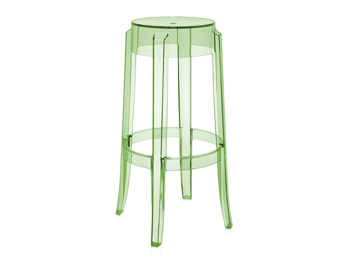 buy the kartell charles ghost bar stool green at nestcouk - kartell charles ghost bar stool green