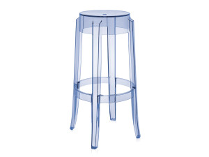 Kartell Charles Ghost Bar Stool Light Blue