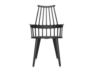 View Kartell Comback Chair with Black Wooden Legs