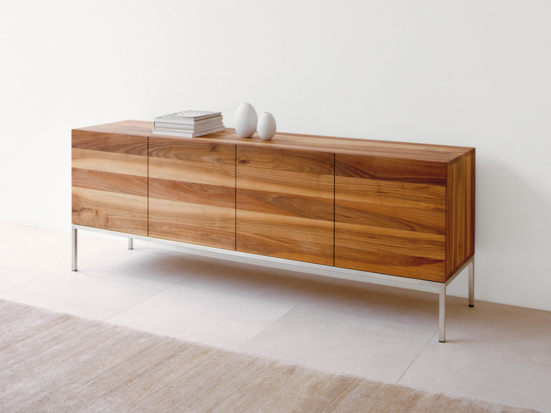 Buy the e15 sb02 farah sideboard walnut at for Sideboard esszimmer design