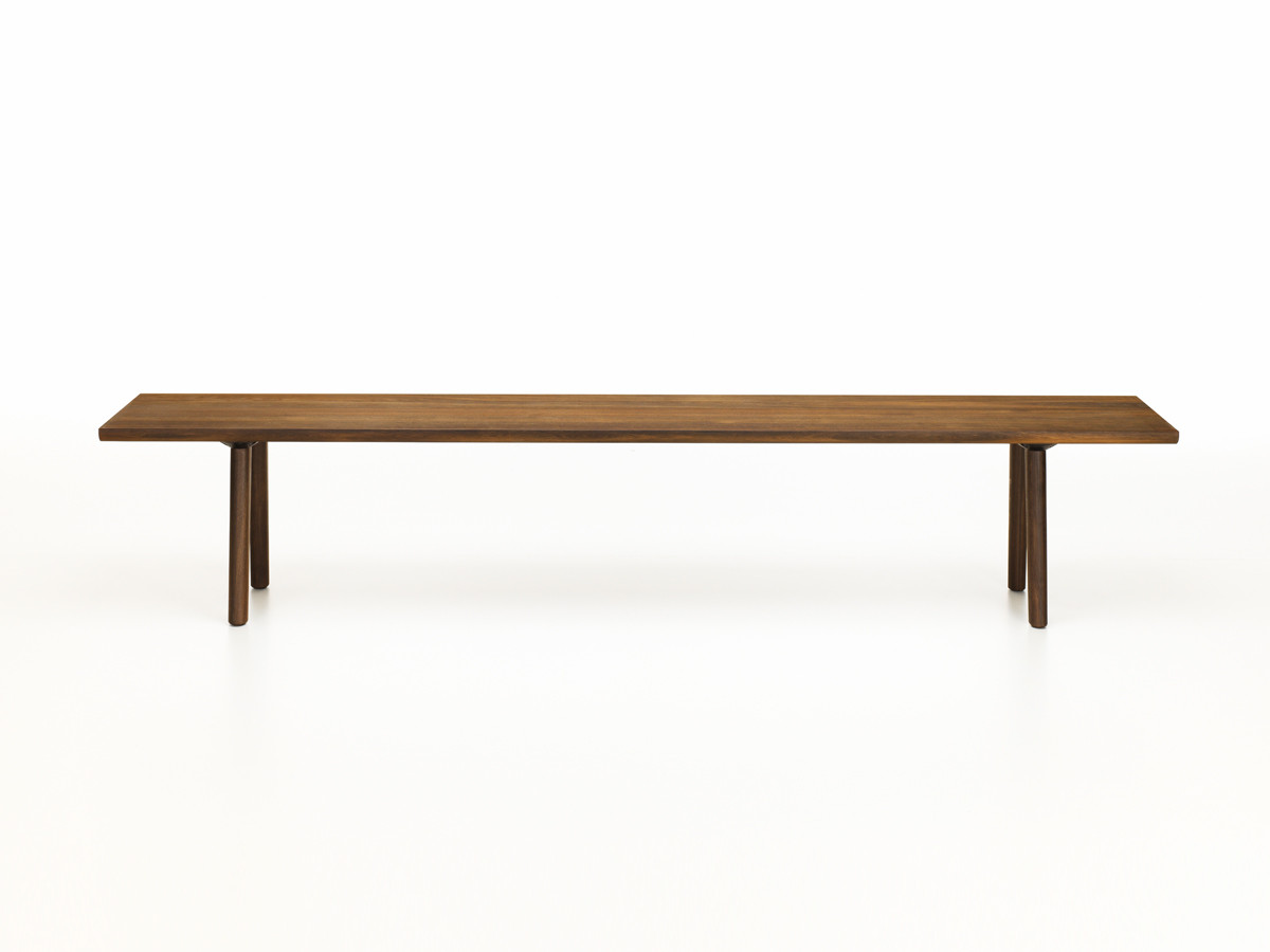designer benches  unique modern benches  nestcouk - view vitra wood bench smoked oak