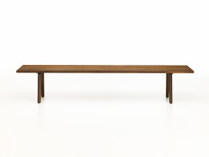 View Vitra Wood Bench Smoked Oak
