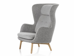 View Fritz Hansen Ro Easy Chair Wooden Base