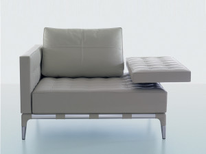 View Cassina 241 Privé Armchair White Leather