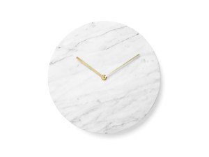 View Menu Marble Wall Clock
