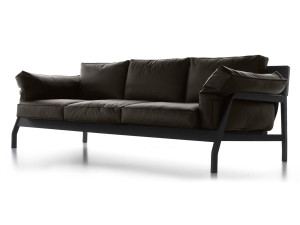 View Cassina 285 Eloro Three Seater Sofa Leather