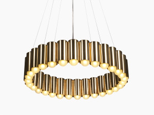 View Lee Broom Carousel Brass Pendant Light