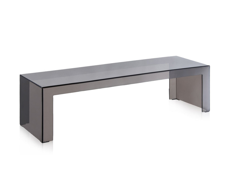 Buy the kartell invisible side table smoke at for Table exterieur kartell
