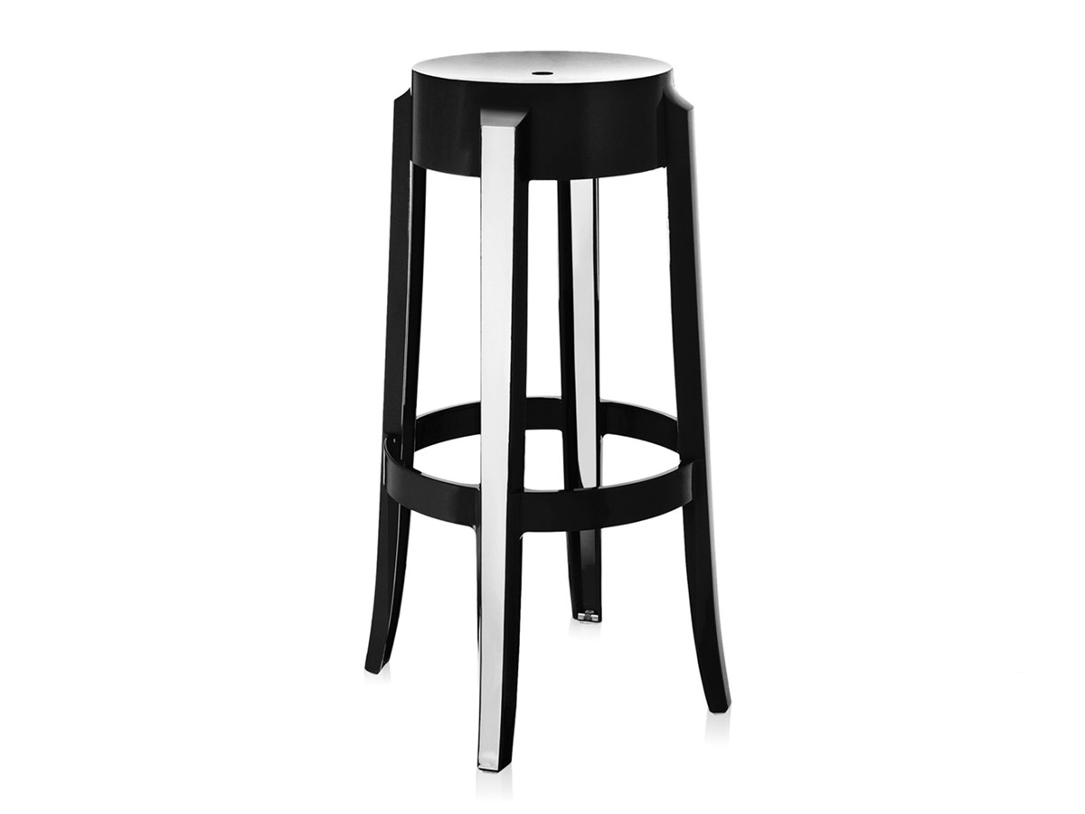 buy the kartell charles ghost bar stool black at nestcouk - kartell charles ghost bar stool black