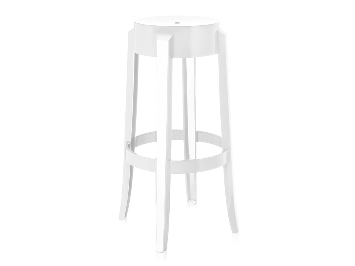 buy the kartell charles ghost bar stool white at nestcouk - kartell charles ghost bar stool white