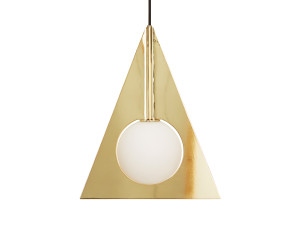 View Tom Dixon Plane Triangle Pendant Light