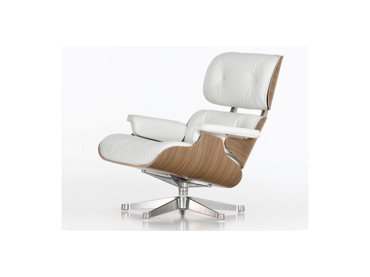 buy the vitra eames lounge chair ottoman white at. Black Bedroom Furniture Sets. Home Design Ideas