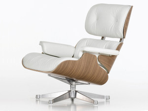 Vitra Eames Lounge Chair & Ottoman - White