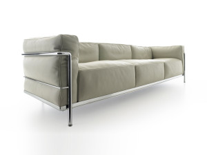 View Cassina LC3 Three Seater Sofa