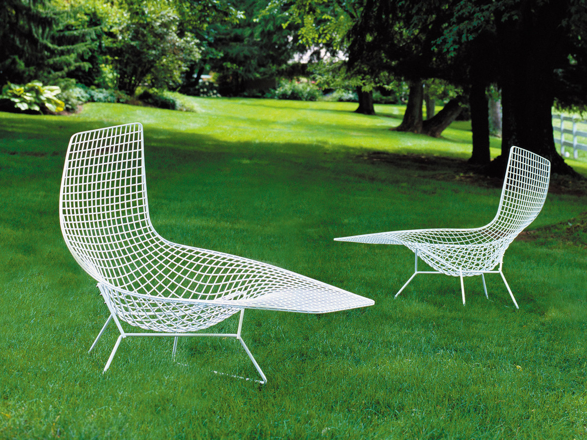 Buy the knoll studio knoll bertoia asymmetric chaise at - Chaise bertoia knoll ...