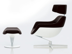 Cassina 277 Auckland Armchair with Headrest - White