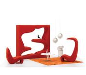 Vitra Amoebe Highback Lounge Chair
