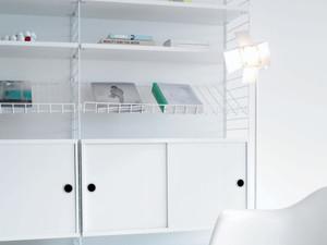 String Shelf System - White & White