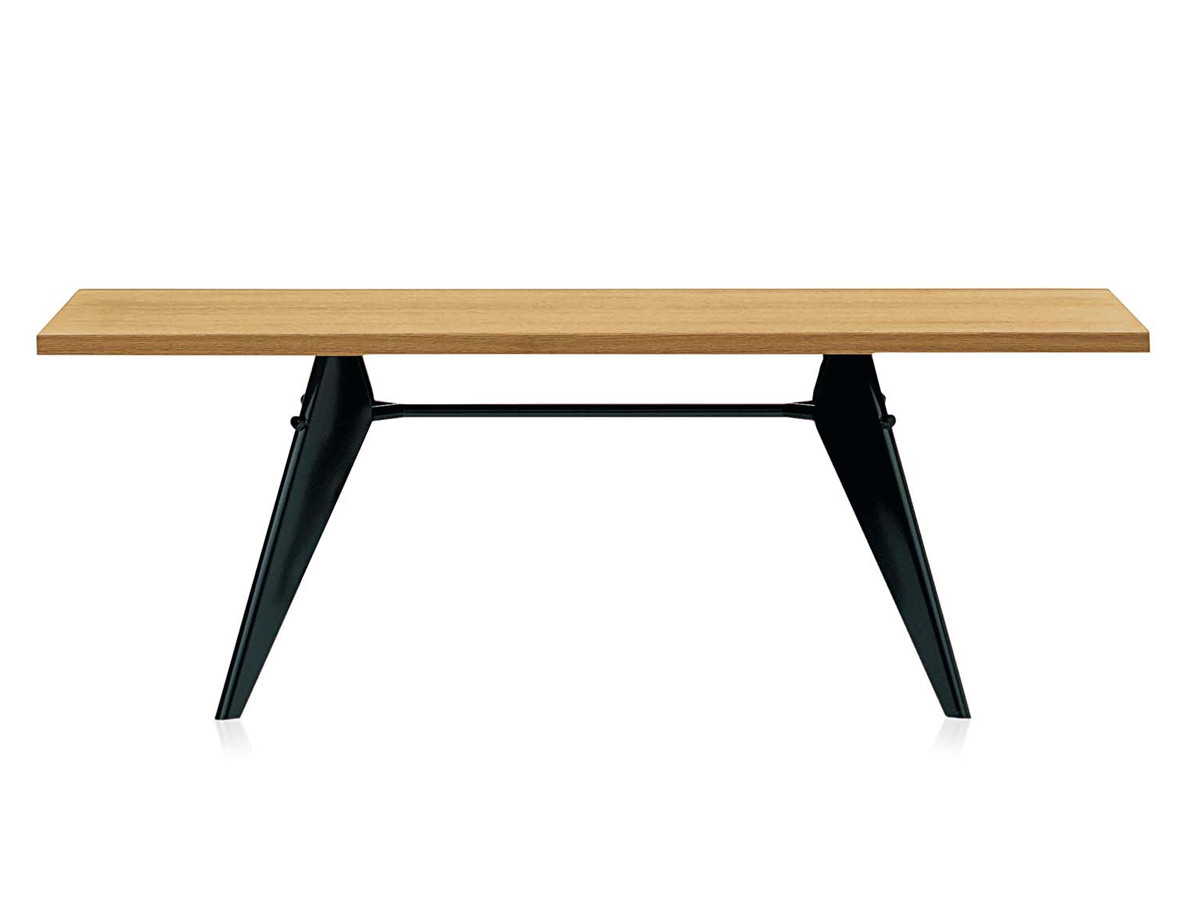 Buy the Vitra EM Table at Nestcouk : Vitra EM Table with Natural oak table top and deep black base from www.nest.co.uk size 1200 x 900 jpeg 52kB