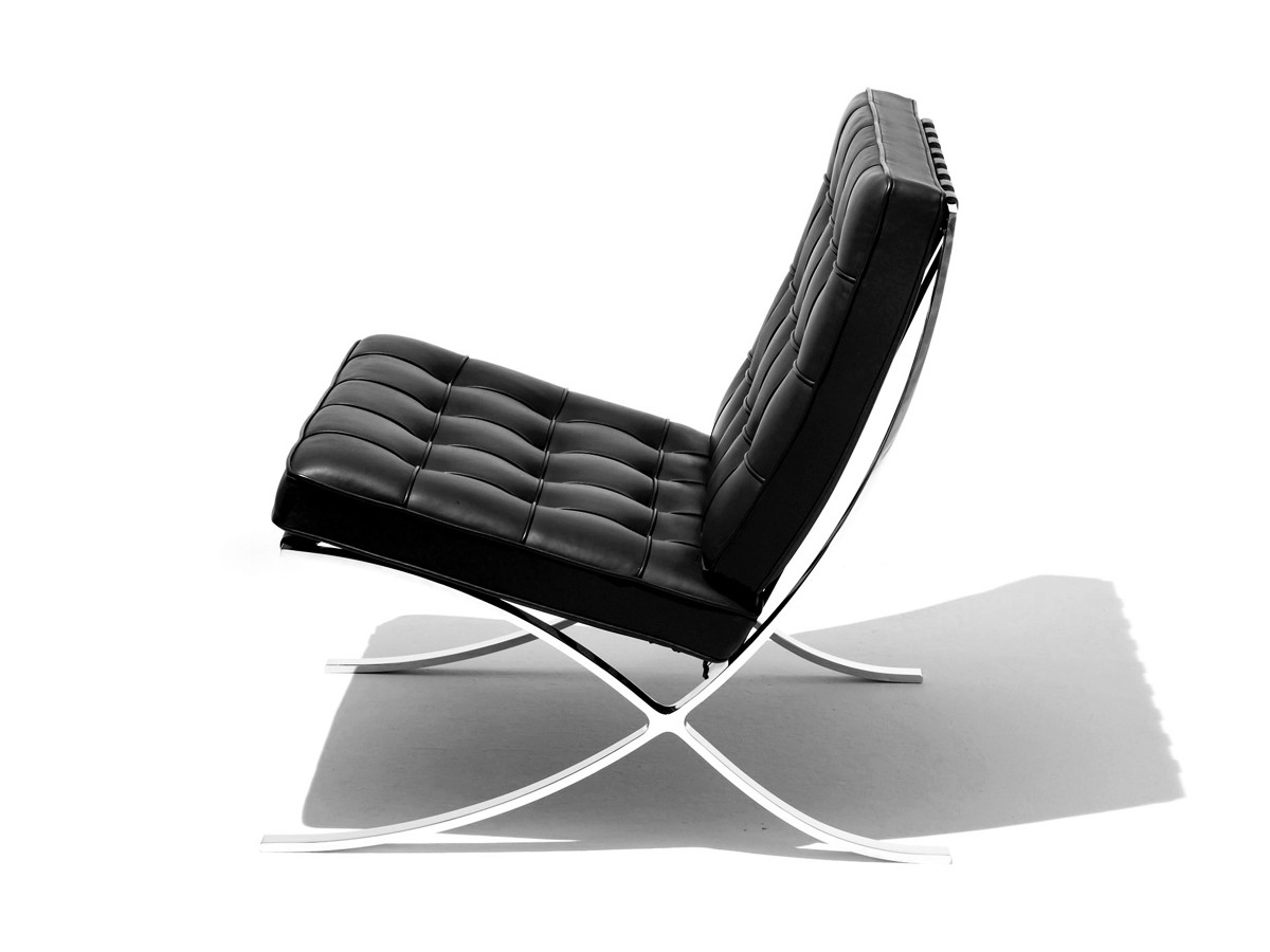 buy the knoll studio knoll barcelona chair at. Black Bedroom Furniture Sets. Home Design Ideas